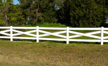Cross Buck Vinyl Fence